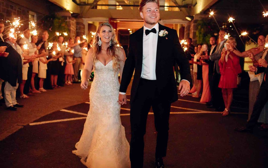 Megan Landmark Wed to Swedish Ice Hockey Defenseman Anton Cederholm at Oregon Golf Club